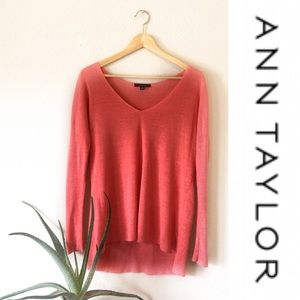 Coral Knit Long Sleeved Ann Taylor Top